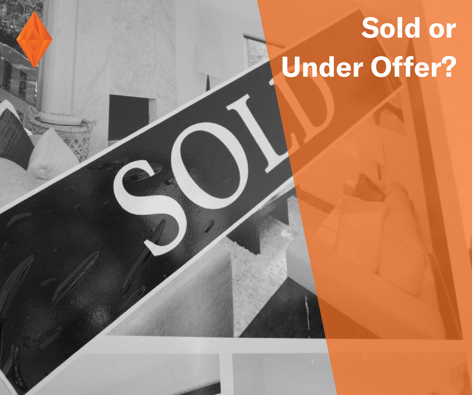 What is the difference between sold and under offer? Have you seen a lot of under offer stickers around but not sure what it means?